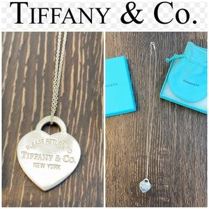 Authentic Tiffany & Co pendant heart necklace 20""